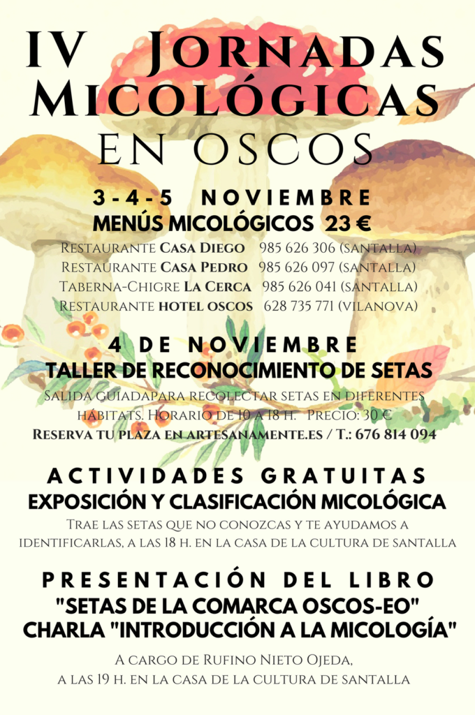 cartel iV jornadas micológicas en Oscos